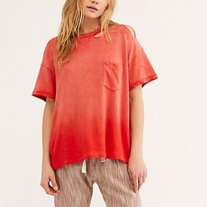 Free People Ombré ripples T-shirt